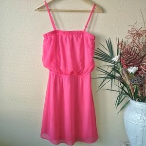 Express Hot Pink Above the Knee Dress SP